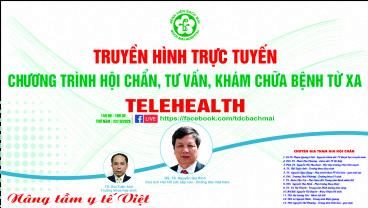 Chương trình Telehealth ngày 29/10/2020