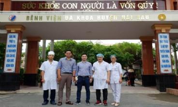 Niềm vui đã đến với bệnh nhân thở máy và hồi sức hô hấp tại bệnh viện đa khoa huyện hải hậu