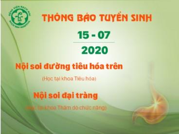 [THÔNG BÁO] kế hoạch dự kiến khai giảng các khóa đào tạo ngày 15/07/2020