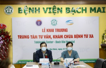 Bệnh viện Bạch Mai khai trương Trung tâm Tư vấn, khám chữa bệnh từ xa