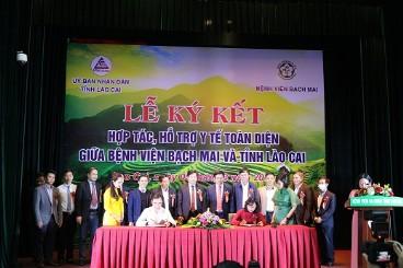 Bệnh viện Bạch Mai ký kết hợp tác hỗ trợ y tế toàn diện với tỉnh Lào Cai
