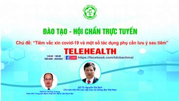 Chương trình Đào tạo - Hội chẩn trực tuyến, Ngày 20 tháng 5 năm 2021