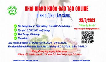 Thông báo khai giảng online khóa đào tạo
