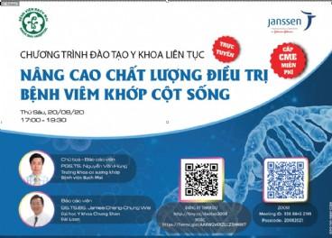 """Hội thảo """"Nâng cao chất lượng điều trị bệnh Viêm khớp cột sống"""" ngày 20/08/2021"""