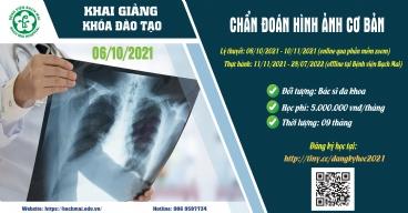 Thông báo khai giảng online khóa đào tạo Chẩn đoán hình ảnh cơ bản ngày 06/10/2021