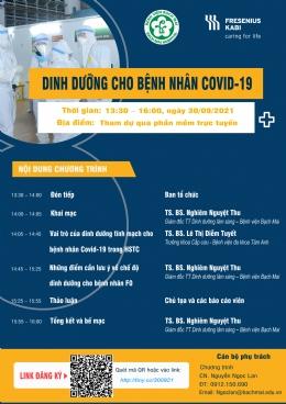 """Thông báo tổ chức buổi đào tạo y khoa với chủ đề """"Dinh dưỡng cho bệnh nhân Covid 19""""."""